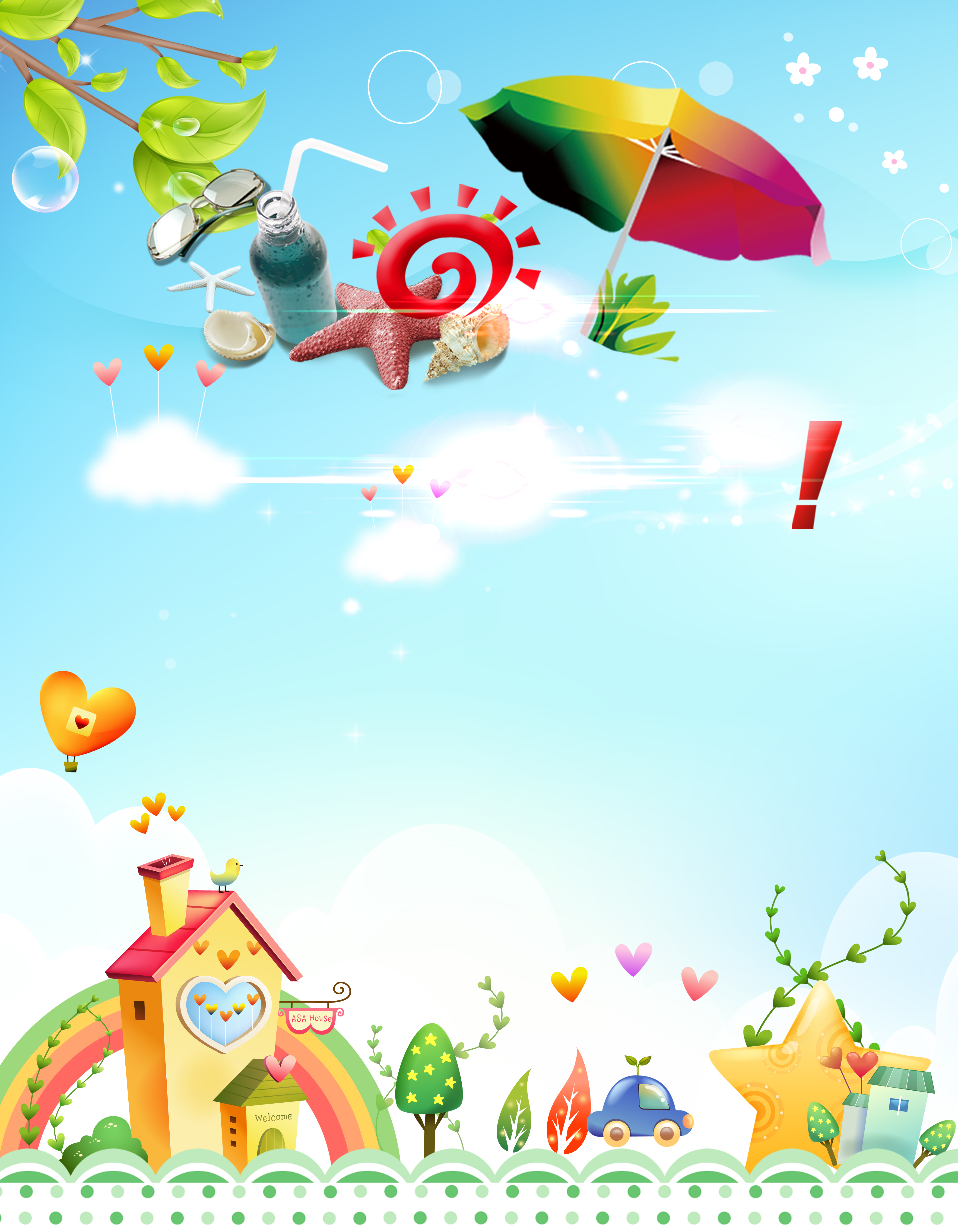 Summer Camp For Children Poster Background Material Child Templates Poster Background Image