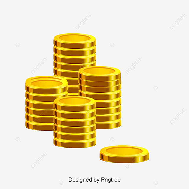 Gold coin vector png