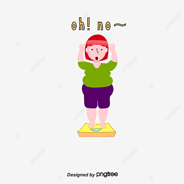 Cartoon Weight Loss Vector Ilration Lose Free Png And