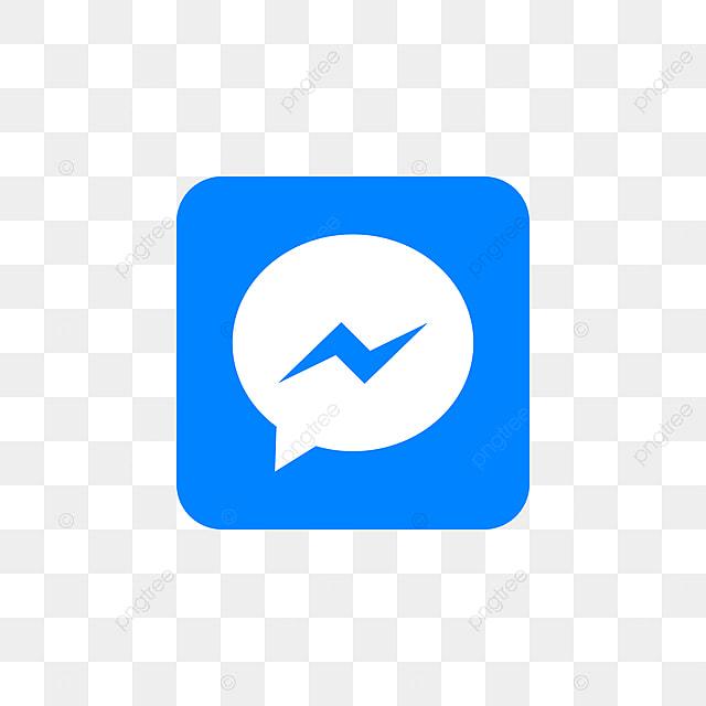 Facebook Messenger Social Media Icon Design Template