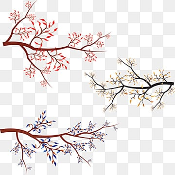 Watercolor tree branches