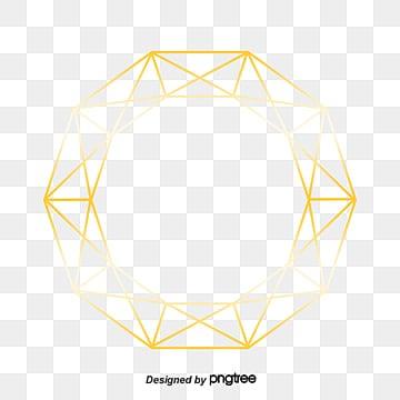 金色几何科学和技术 简单 线png图片和剪贴画