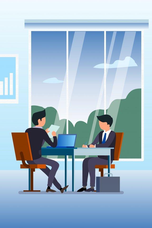 办公室里正在商谈业务的商务人员 商务 办公 职场数据 窗户 职场 png