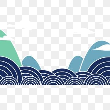 卡通 风景 手绘背景 白云风景 插画 浮云 png和psd