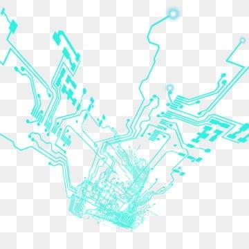 蓝色科技 电路板 线路图 主板线路 背景 线路图 png和psd