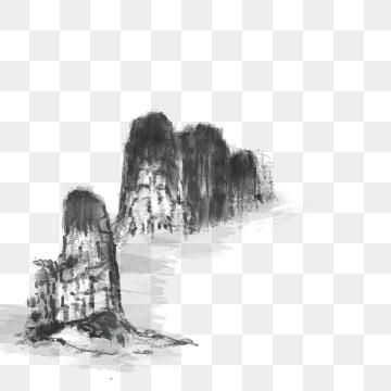自然风景 黑白 水墨山水画 黑白画水墨山水画 自然风景黑白水墨山水画