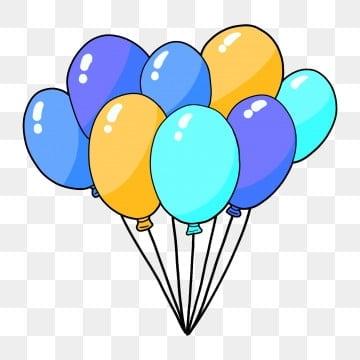 手绘气球 节日装饰气球 彩色气球束 一簇气球喜庆节日气球 一簇气球