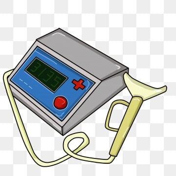 <strong>medical<\/strong> supplies spirometer red button an examination白色管子