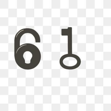锁 钥匙 字 锁创意六一儿童节图形图案 字锁 锁 png和psd
