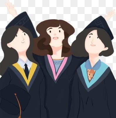手绘卡通毕业季毕业学士服 手绘 卡通 毕业季毕业 学士帽 毕业季 png图片