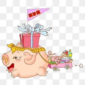 猪年海报手绘简单