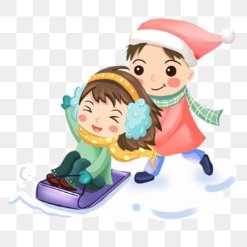 冬季场景 雪地场景 冬季 雪地卡通人物 娱乐 冬季png和psd图片