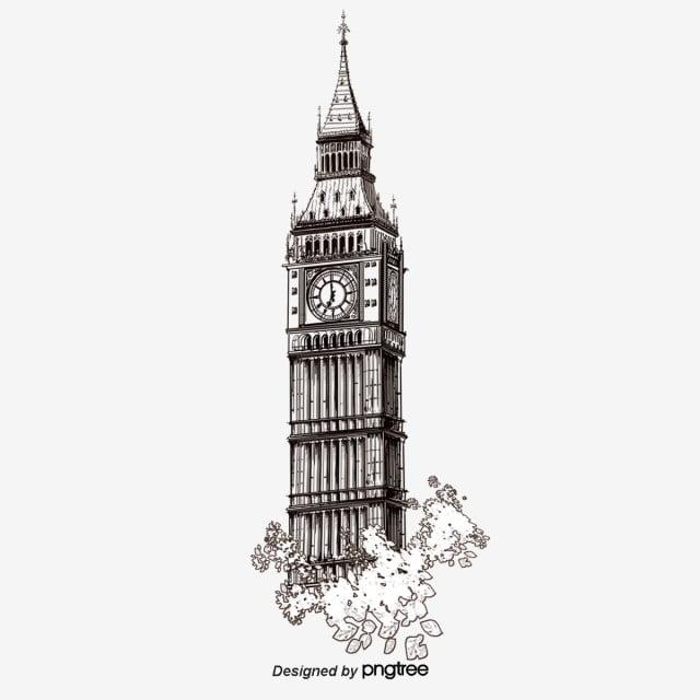 British Landmark London Big Ben Silhouette Big Ben