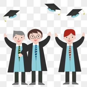 毕业 学校 学生 毕业典礼 卡通丢学士帽的人 学士服 学校 png和矢量图片