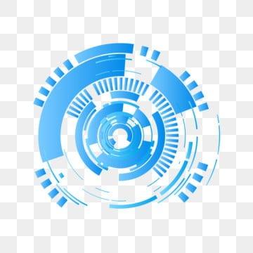 人工智能几何图形 圆形形状图案 科技几何图案 大数据装饰人工智能