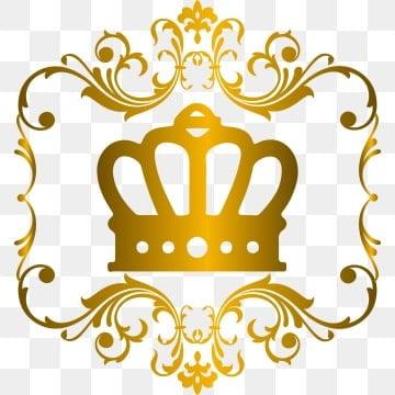 皇冠素材 简约大气 金色皇冠简约大气 欧式边框 金色皇冠png和矢量