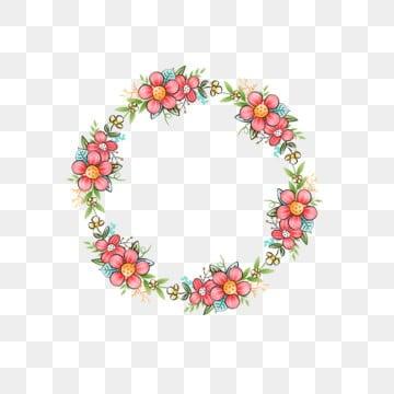 小碎花手绘植物边框元素 小碎花 圈花 植物边框 手绘边框 小碎花手绘