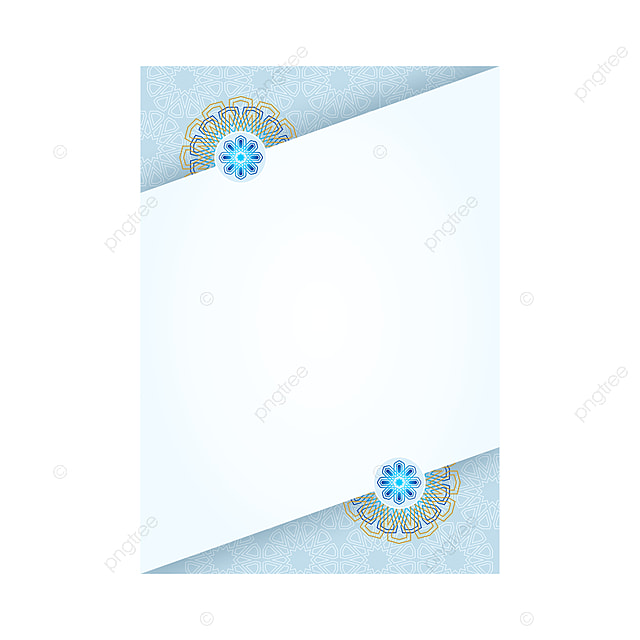 Light Blue Islamic Flyer Template Template For Free