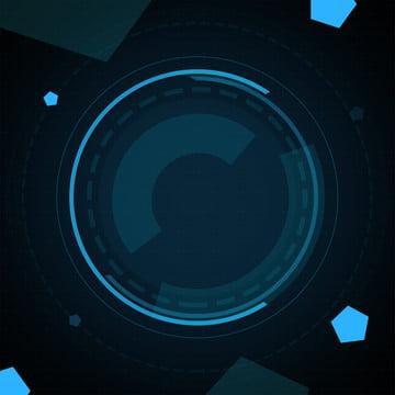蓝色科技圆圈科幻背景 蓝色 科技 蓝色 点位 矩阵背景图