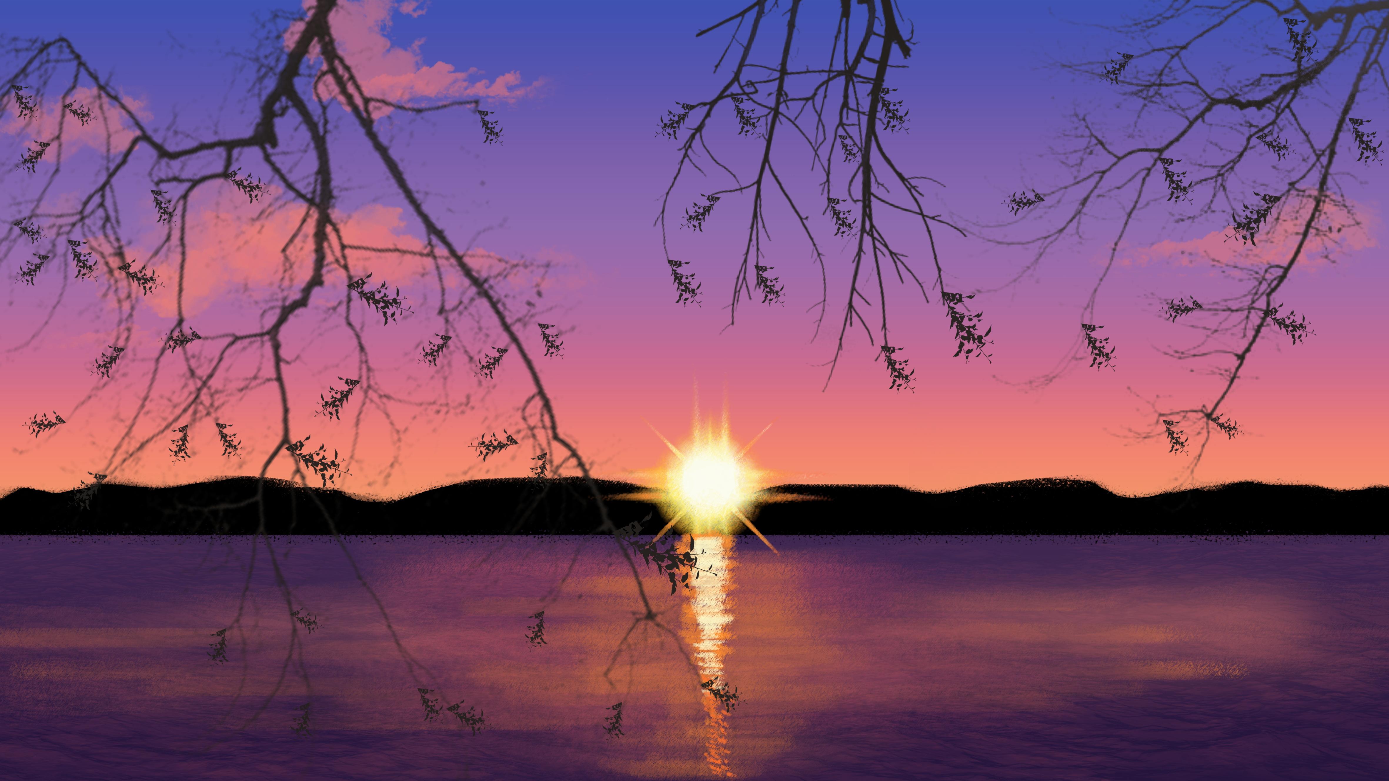 76 Gambar Abstrak Senja Terbaik
