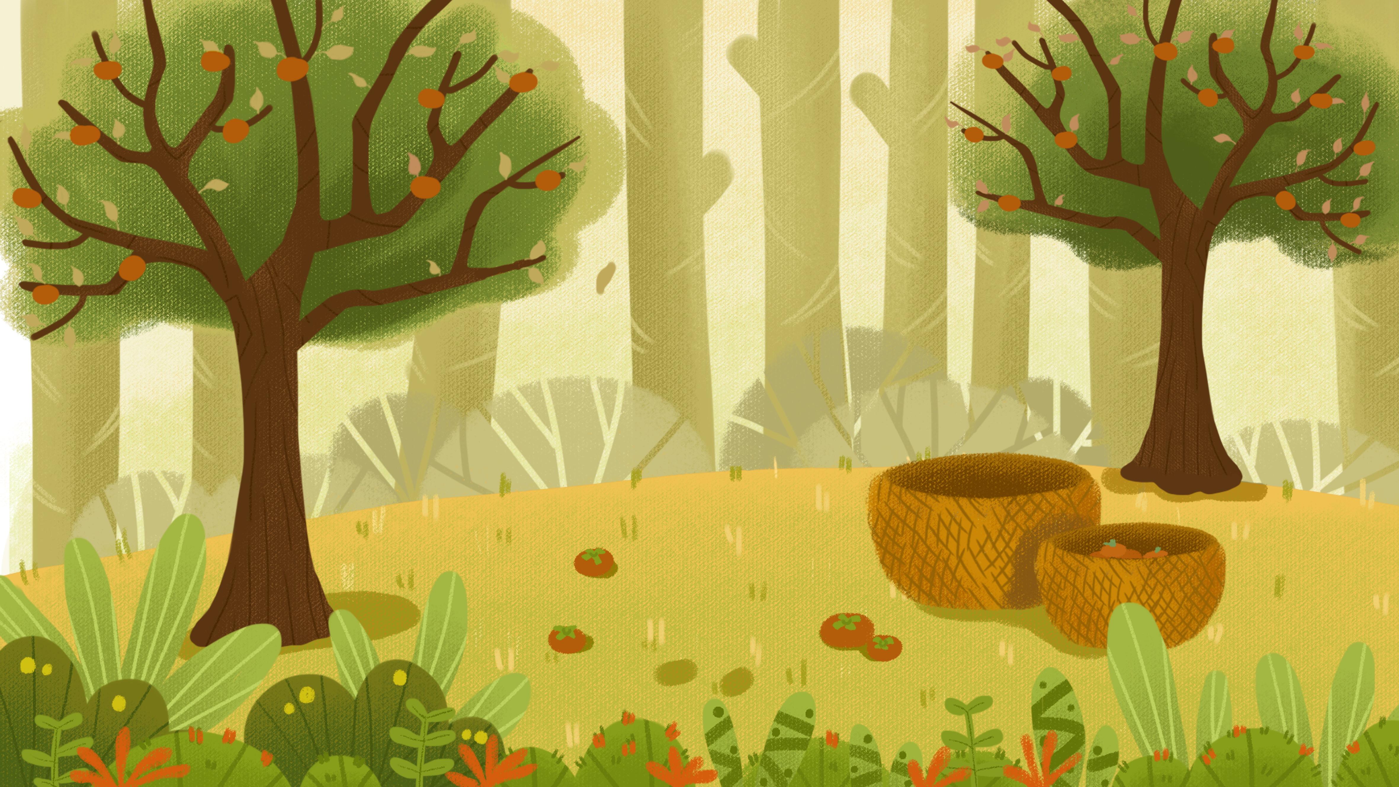 картинка для аппликации лес свету темноте