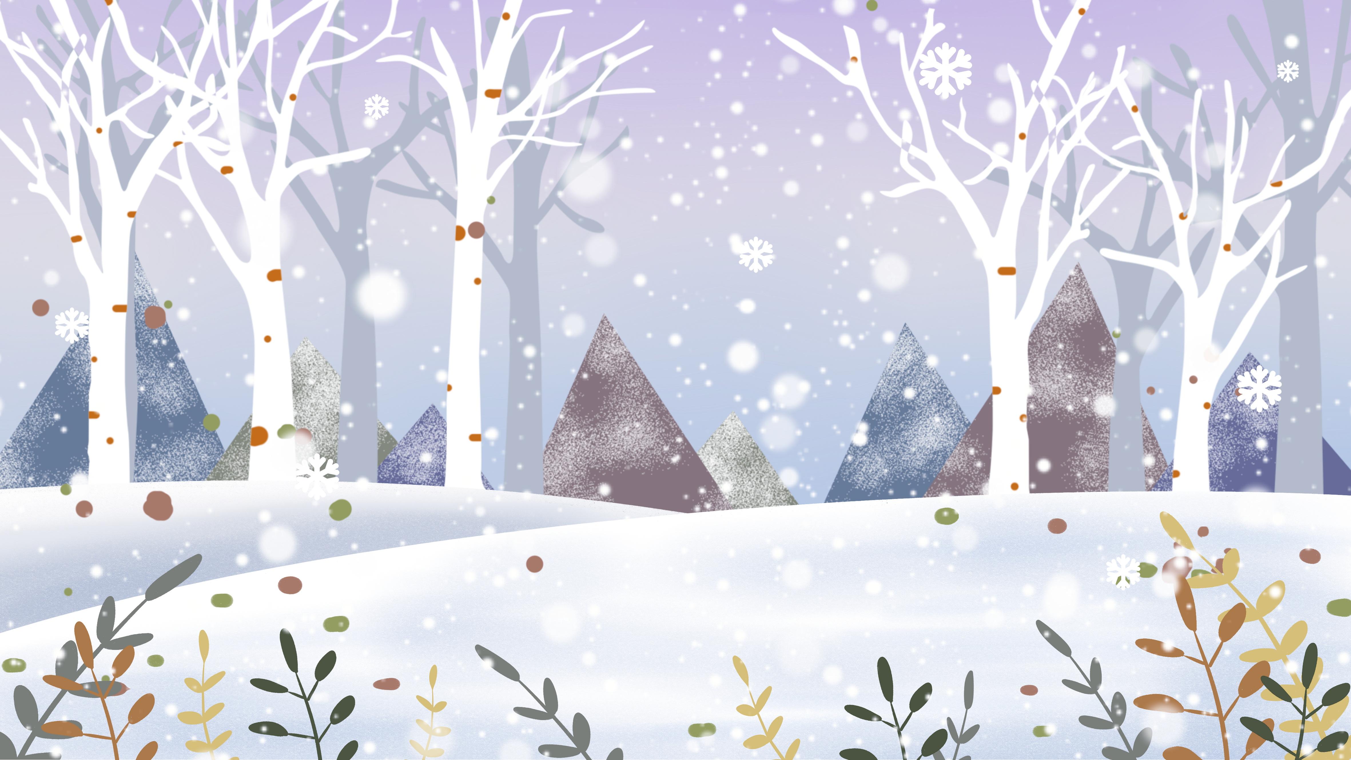 Зимняя лесная полянка картинки для детей