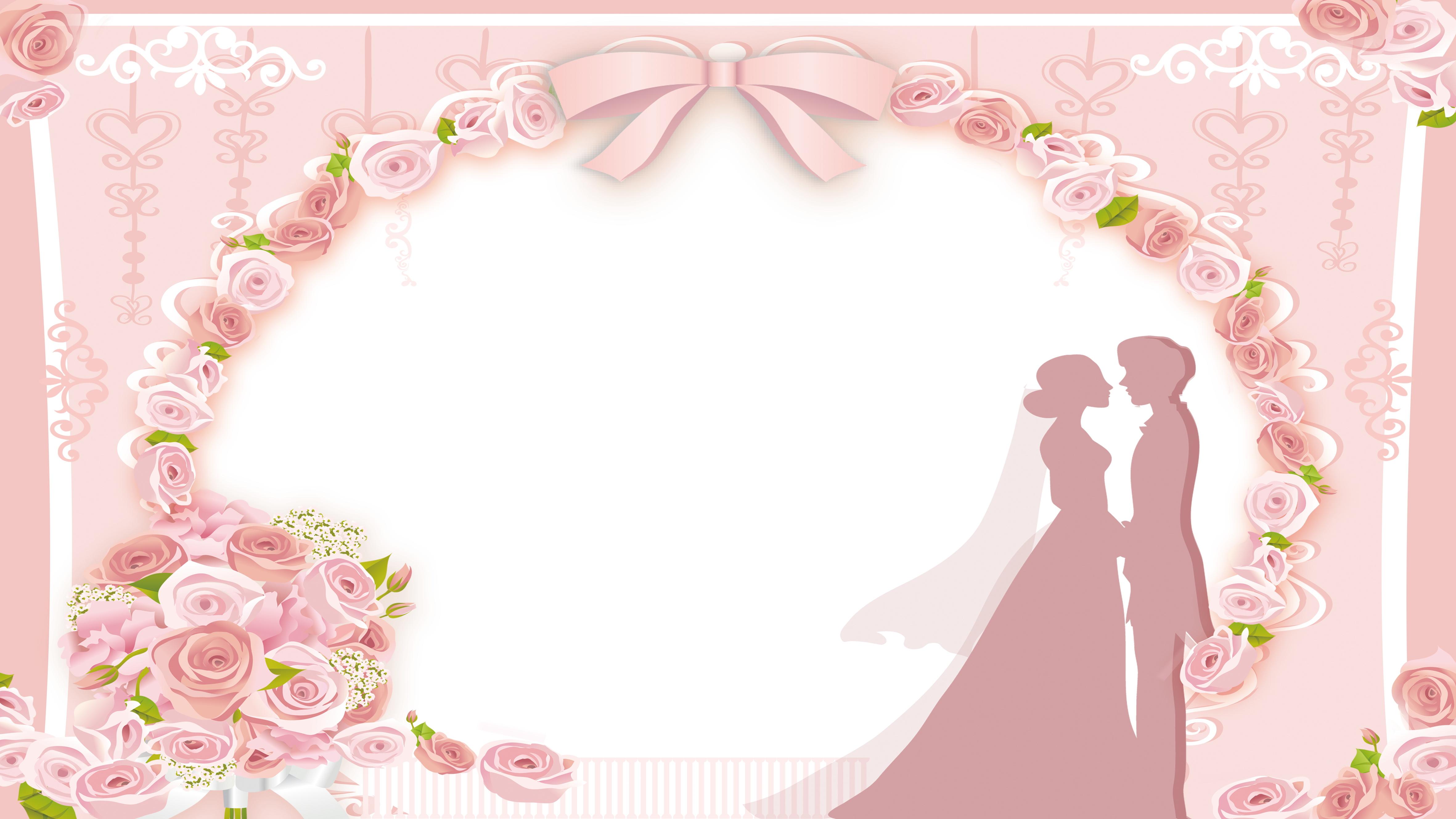 Марта, фон для свадебной открытки розовый