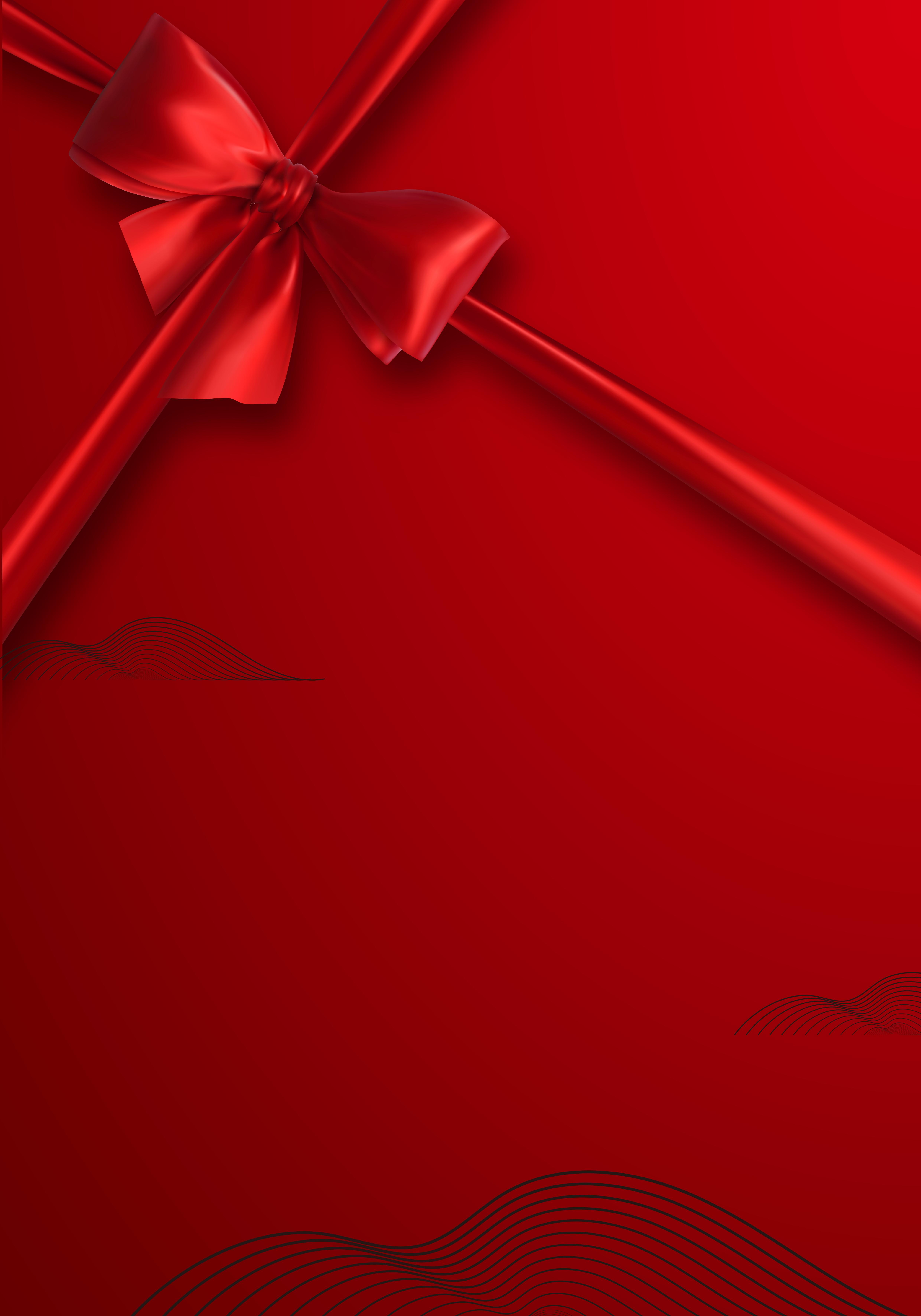 красный фон с подарками всем