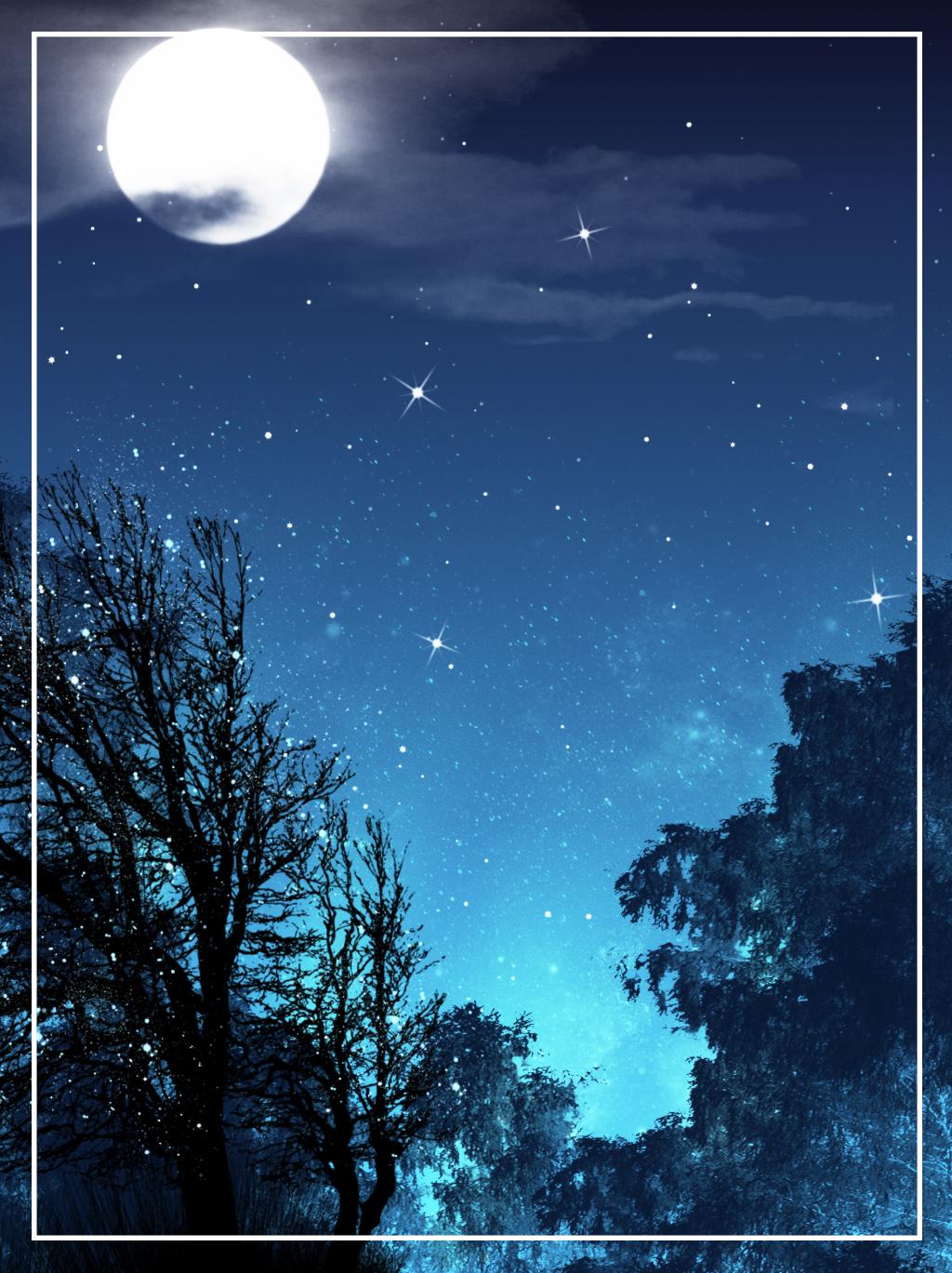 красивые картинки луны и звезд вертикально окна
