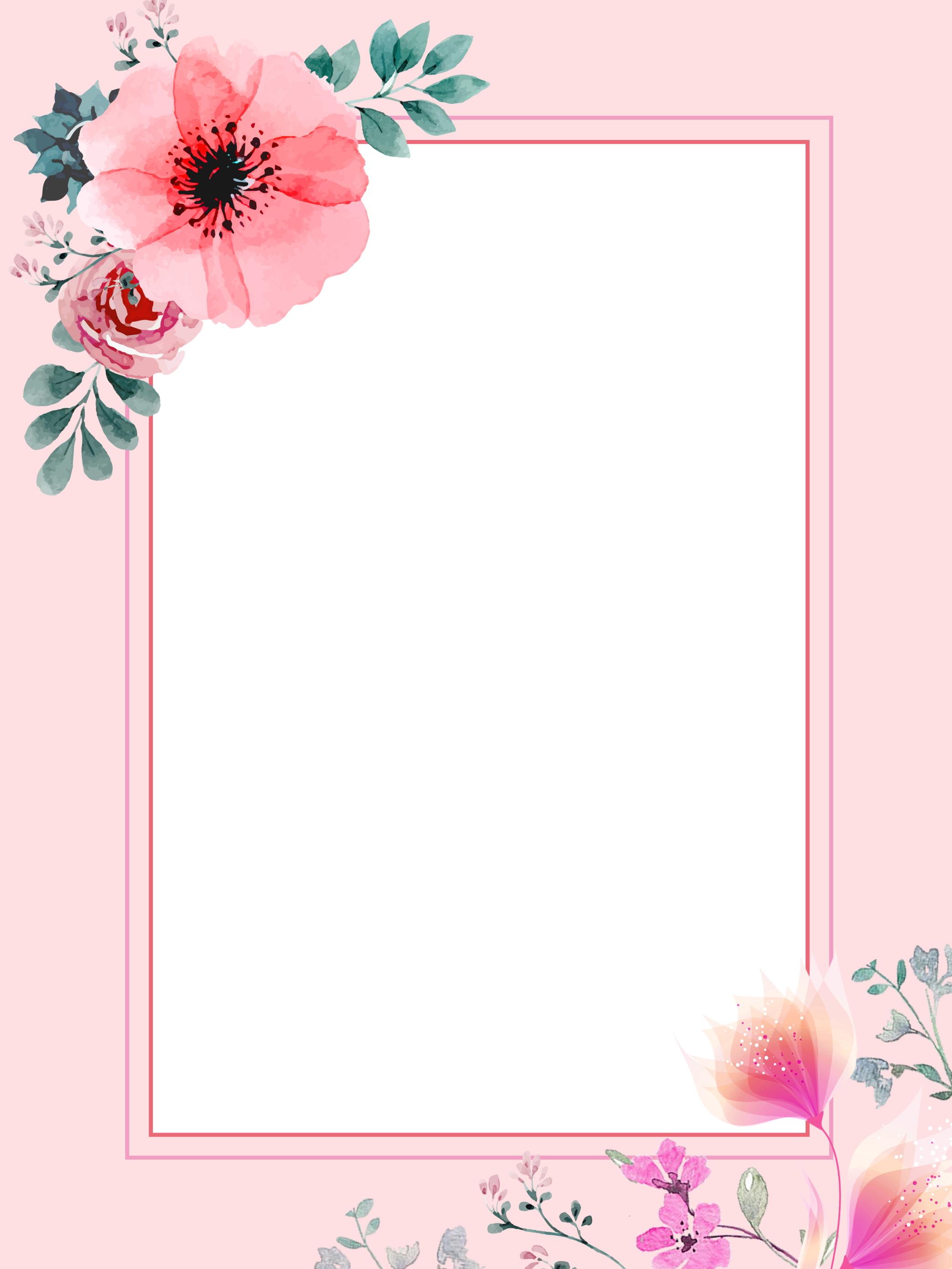 fleurs peintes  u00e0 la main laisse conception de fond chaud