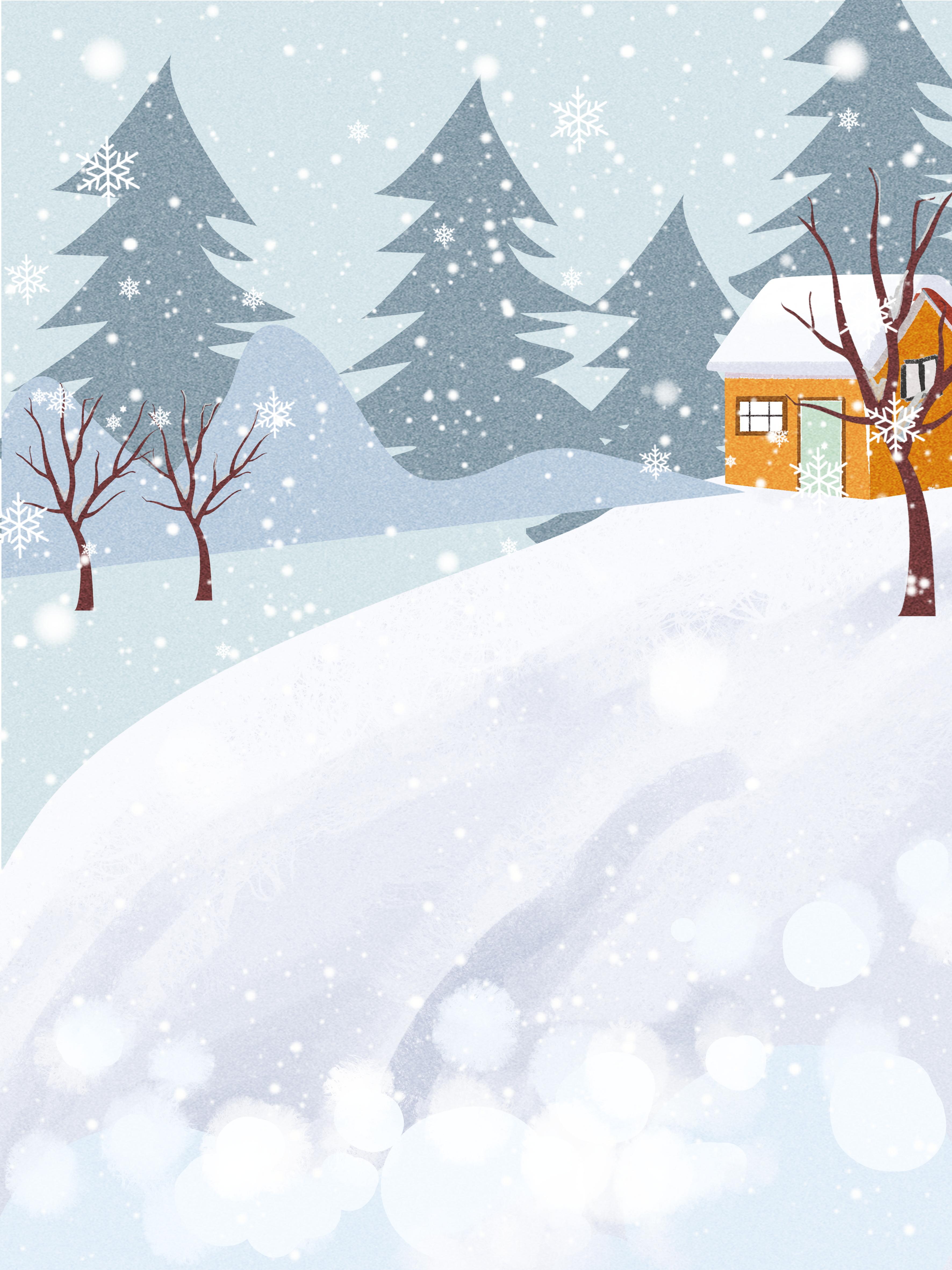 Зимний деревенский пейзаж картинки вектор