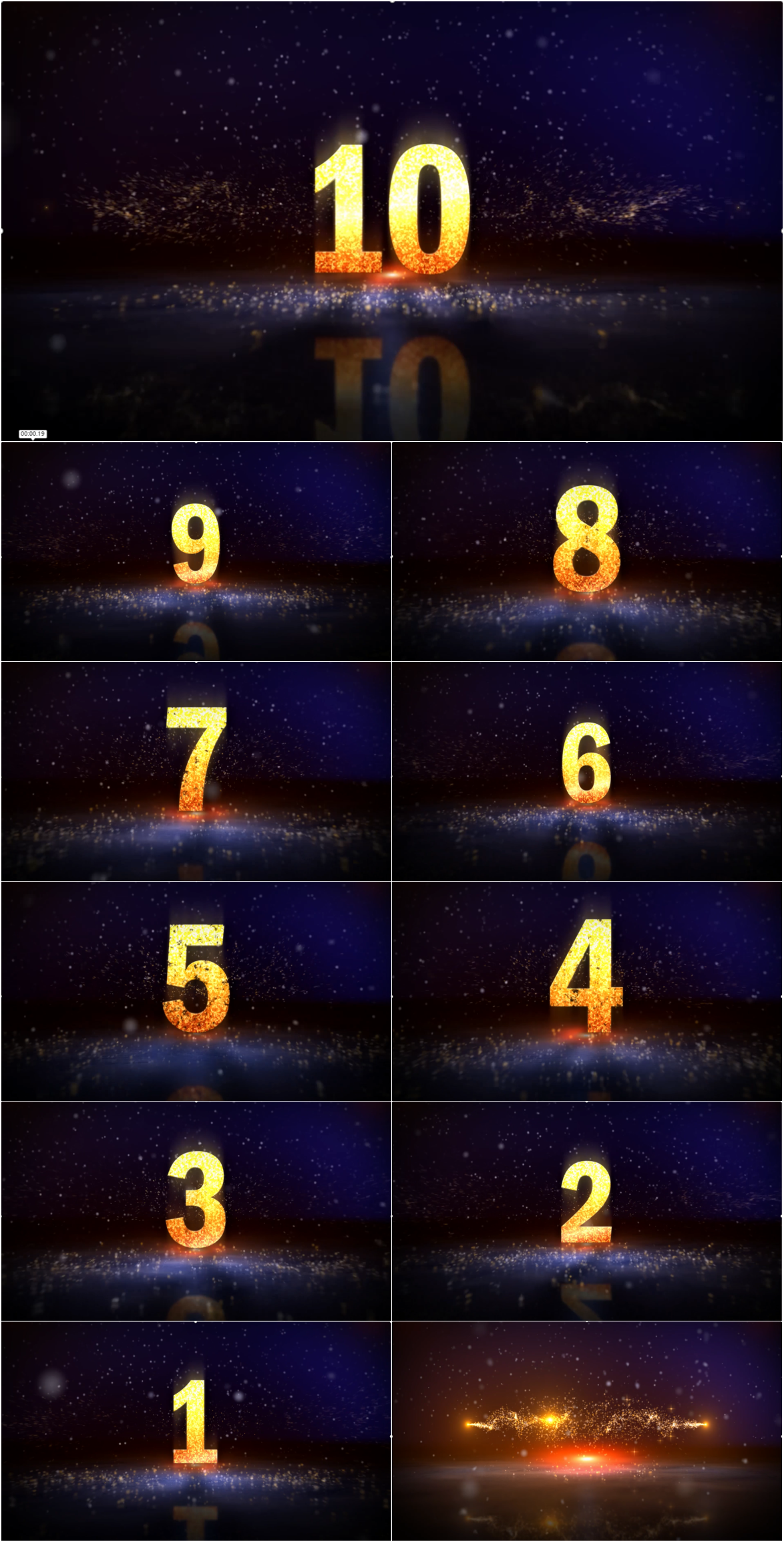 Awesome 10 second countdown video ppt mode of shock particle opening ...