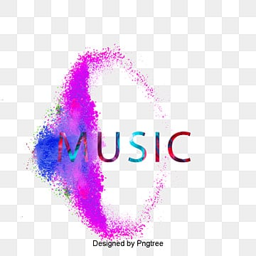 colorful powder music fonts design Fonts