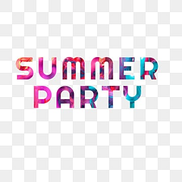 colorful summer party fonts design Fonts
