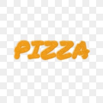 yellow pizza crumbs art fonts Fonts