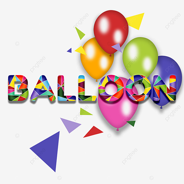 Creativ 3D colorful balloon fonts Art Font For Free Download
