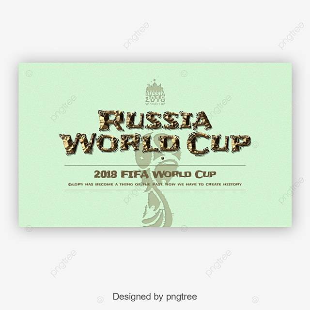 Creative Russia world cup fonts Art Font For Free Download