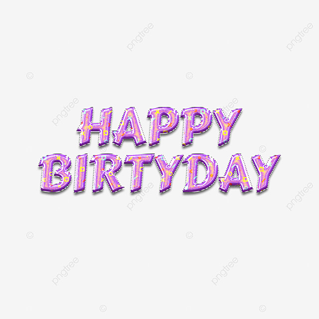 cute 3d happy birthday fonts art font for free download