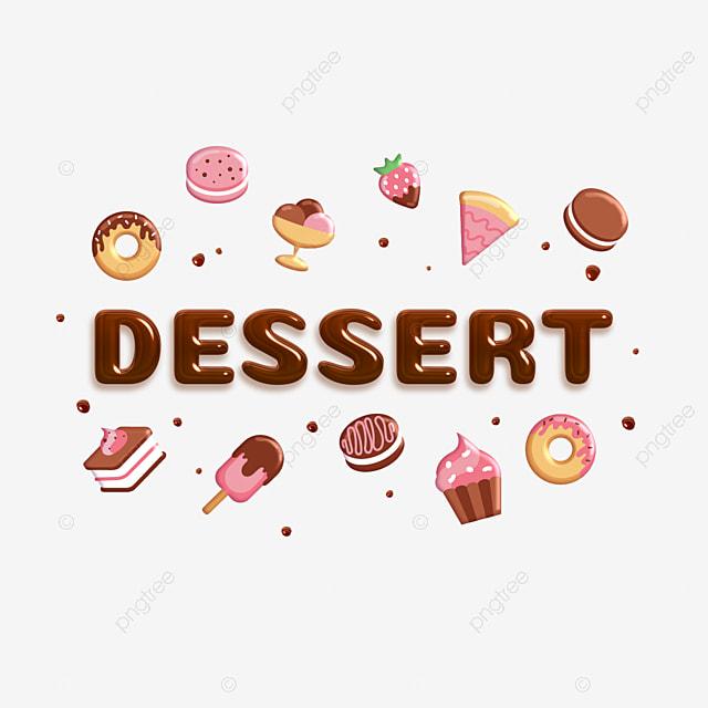 Volume Chocolate Inscription Dessert On The Background Of