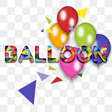 Creativ 3D colorful balloon fonts, Ballon, Rhombus, 3d PNG and PSD