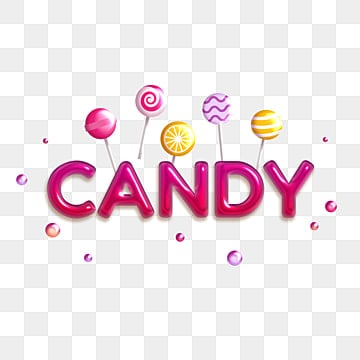 volume glossy red inscription candy on the background of candy Fonts