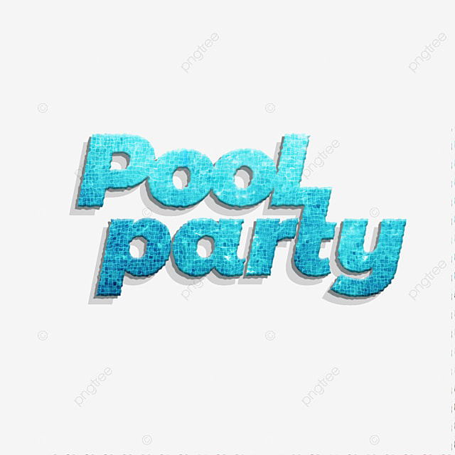 Creativ 3d Cool Pool Party Fonts Design Text Effect PSD