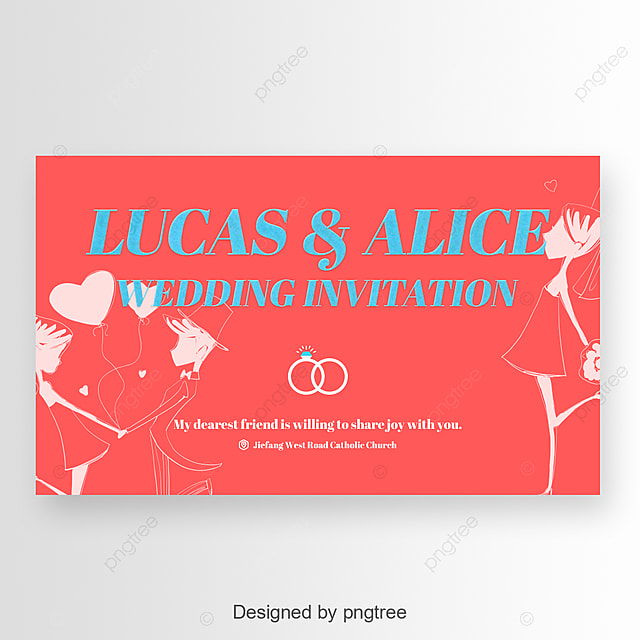 Blue Invitation Card Simple Fonts Art Font For Free Download