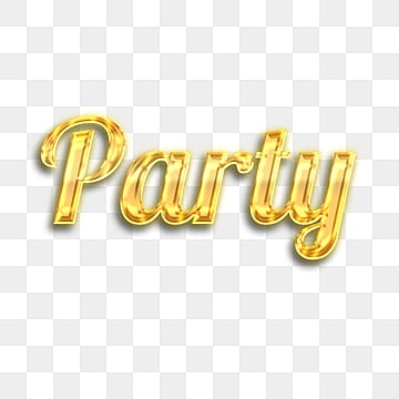 3d golden crystal party fonts Fonts