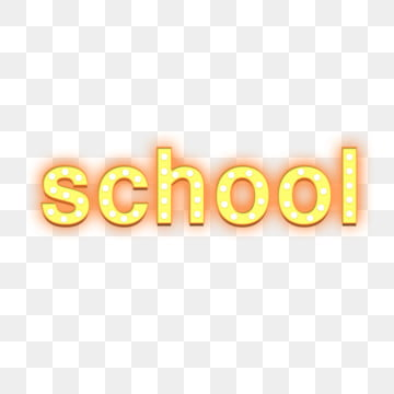 light effect school font design Fonts illustration image