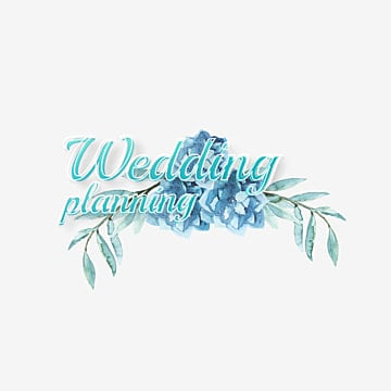 wedding planning fonts with watercolor flower Fonts