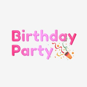 pink birthday party font with celebration element Fonts