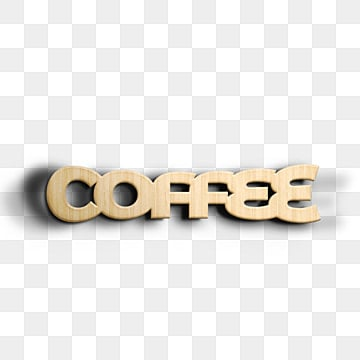 3d wooden coffee font design Fonts