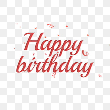 Happy Birthday Font Design Png Images Vector And Psd