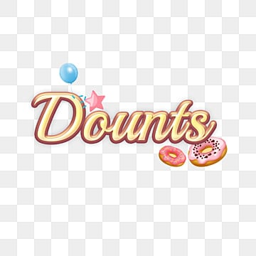 yellow dounts fonts with star and balloon Fonts